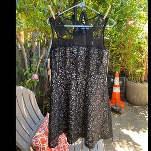 Black lace forever 21 dress sz L